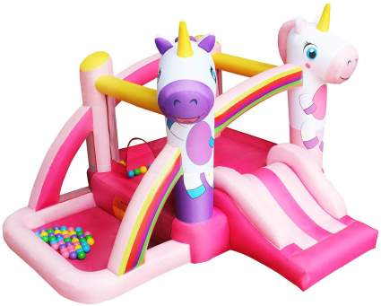 RETRO JUMP Unicorn Inflatable Bouncer Princess Bounce House