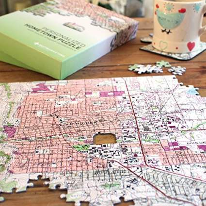 Personalized ' My Hometown' Map Jigsaw Puzzle