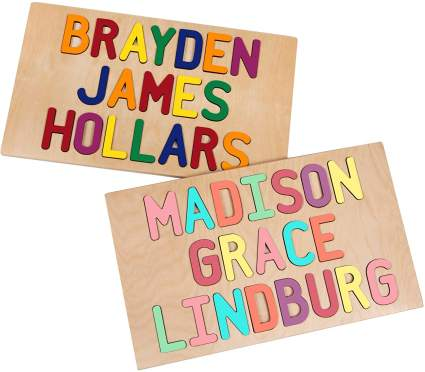 South Bend Woodworks Kids Personalized Wooden Puzzle