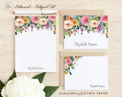 Personalized Notecard and Notepad