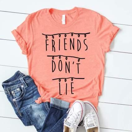Stranger Things Friends Don't Lie T-shirt Netflix Tee