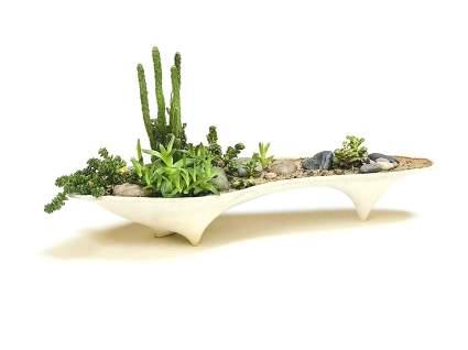 Island Concrete Modern Planter