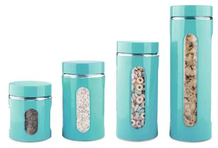 Home Basics 4-Piece Glass Canister Cylinder Set