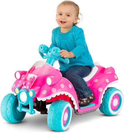 Kid Trax Toddler Disney Minnie Mouse Electric Quad Ride On Toy