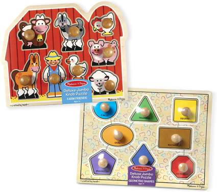 Melissa & Doug Jumbo Knob Puzzles