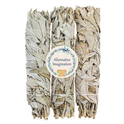 Premium California White Sage, Each Stick Approximately 8 Inches Long and 1.25 Inches Wide for Smudging Rituals,