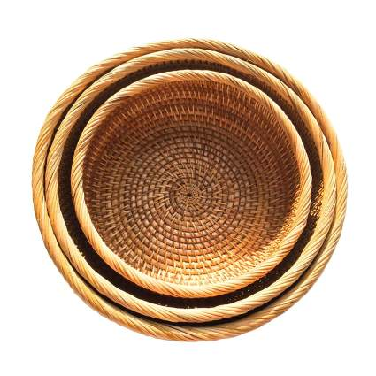 Handmade Rattan Fruit Bowl