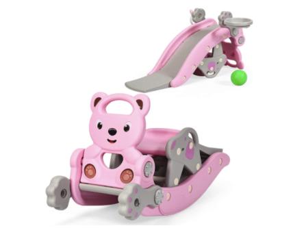 Costzon 4 in 1 Toddler Slide Rocking Toy