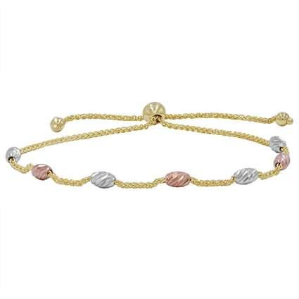 Tri-tone gold bracelet
