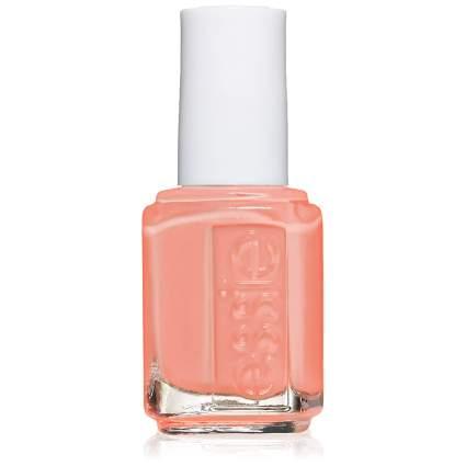 Peachy colored nail polish bottle