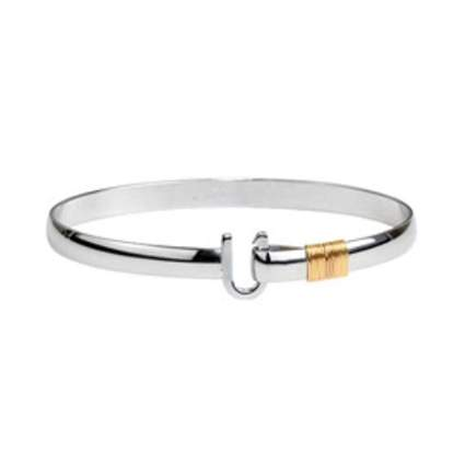 Silver hook bracelet