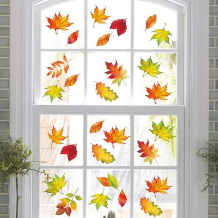 Autumn leaf window clings