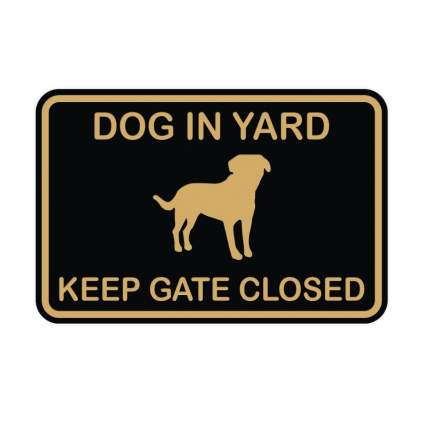 all quality dog in yard sign gifts for dog lovers