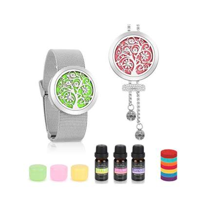 convertabile aromatherapy bracelet and necklace diffuser