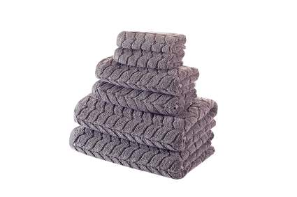 Grey wovent towels