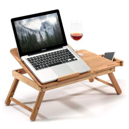 bamboo laptop stand xmas gifts for him