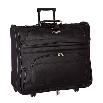 black rolling garment bag