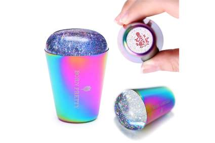 Holographic glitter stamp