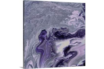 Violet geode canvas art