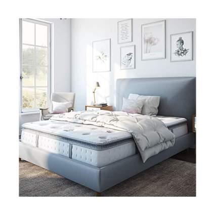 pillow top memory foam hybrid mattress