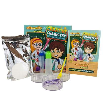 Click-A-Brick Creative Chemistry Crystals & Slime Science Kit for Kids Toys
