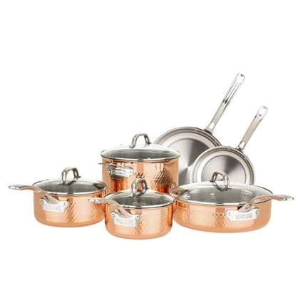 copper clad cookware set