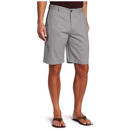 men's gray flat front shorts