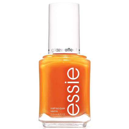 Bright orange essie nail polish