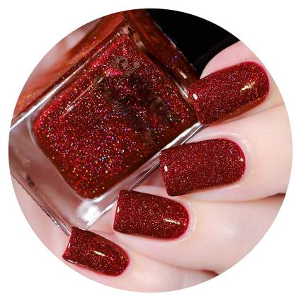 Ruby red nail polish