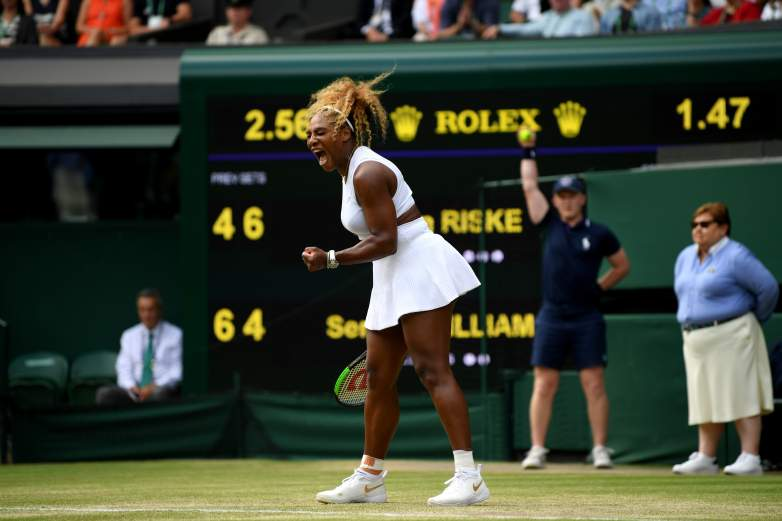 Serena Williams will be in action in the women's semifinals at Wimbledon on Thursday, as she looks to continue her run at her 24th Grand Slam title.
