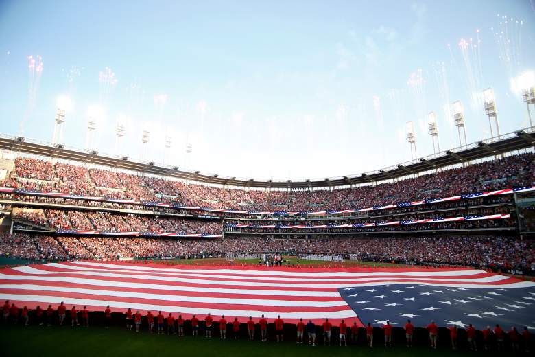 Cleveland's Progressive Field was all decked out for the 90th Midsummer Classic on Tuesday night.