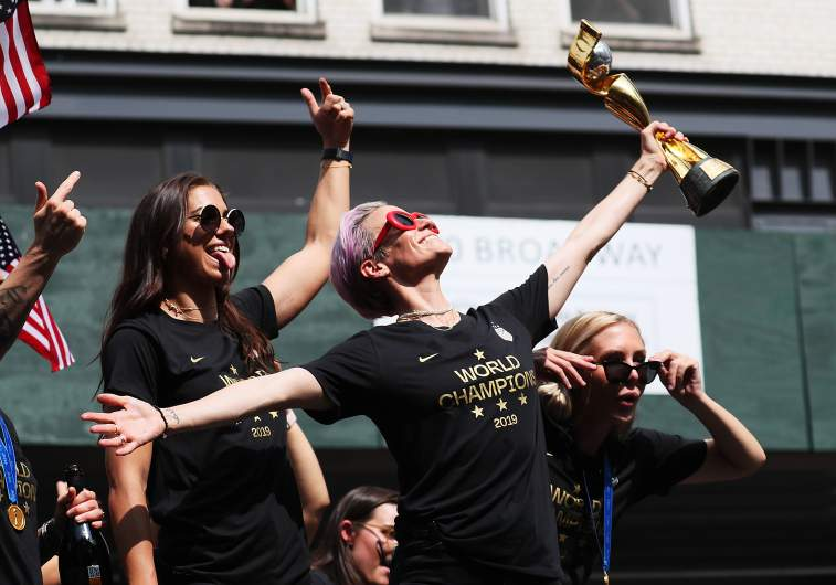 Meghan Rapinoe, Alex Morgan and the USWNT soaked it all in on Wednesday as they were honored during a ticker-tape parade and City Hall rally in NYC.