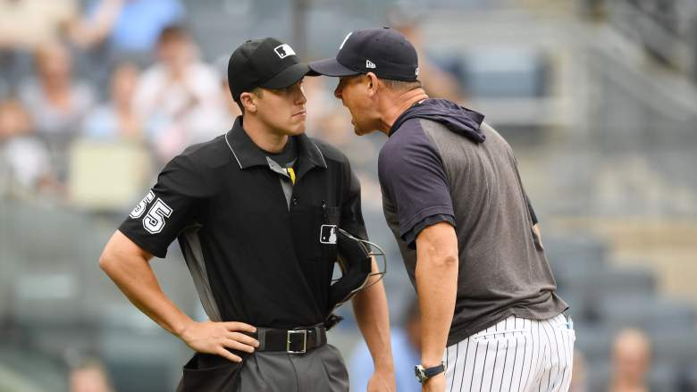 WATCH: Yankees Manager Aaron Boone Rips into Young Umpire after Being Ejected