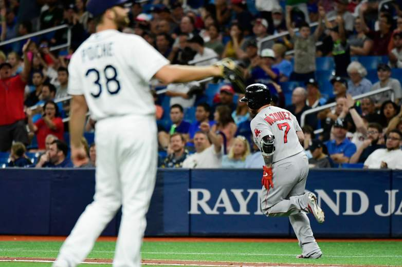 The Red Sox have taken the first two games of their three-game set with the Rays to draw even with them in the Wild Card standings, with both teams now two games back of the A's for the second WC spot.