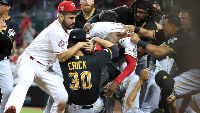 WATCH: Reds & Pirates Clash in Bench Clearing Brawl