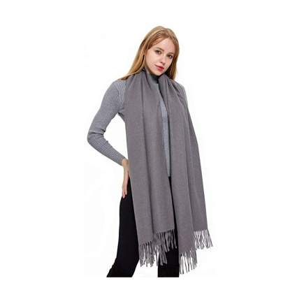 gray cashmere pashmina wrap