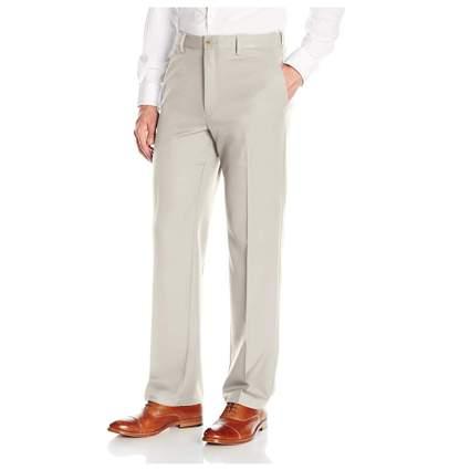 men's flat front expandable waist slacks