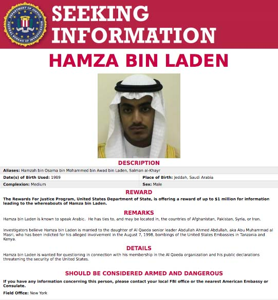 Hamza bin Laden cause of death