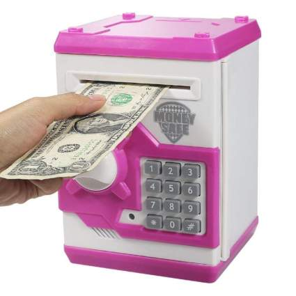 HUSAN Great Gift Toy for Kids Code Electronic Piggy Banks Mini ATM