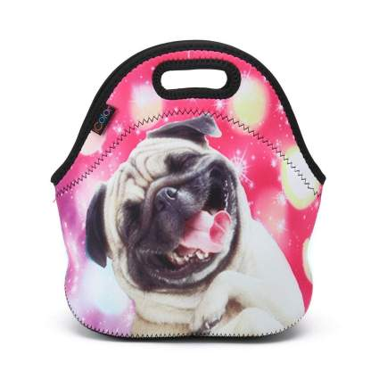 iColor pug lunch bag gifts for dog lovers