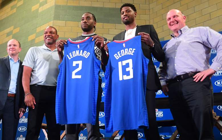 The Clippers' new superstar duo of Kawhi Leonard and Paul George were announced at an introductory press conference on Wednesday.