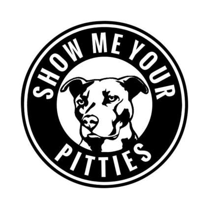 KCD show me your pitties sticker gifts for dog lovers