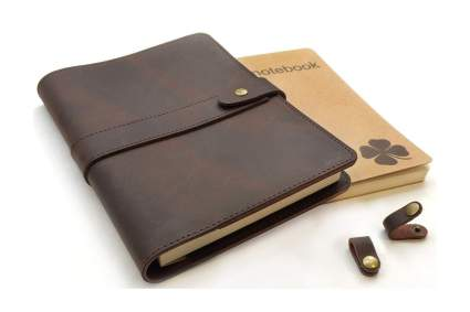 le vent leather notebook cover