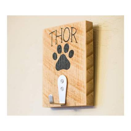 Love built studio personalized leash hook gifts for dog lovers