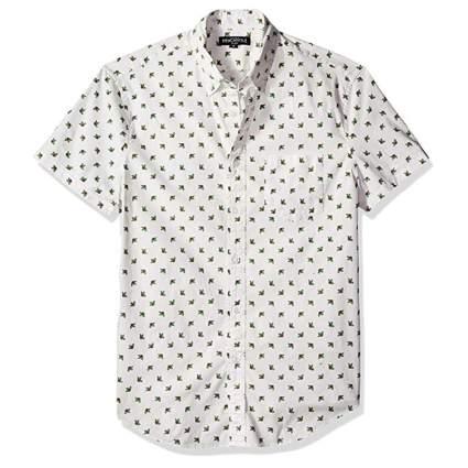 men's print slim fit short sleeve shirt