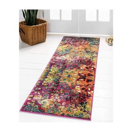 multicolor runner rug
