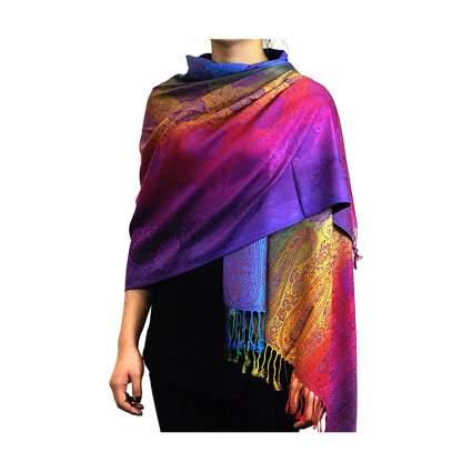 vivid multicolor pashmina scarf