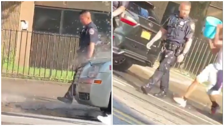 NYPD officers doused