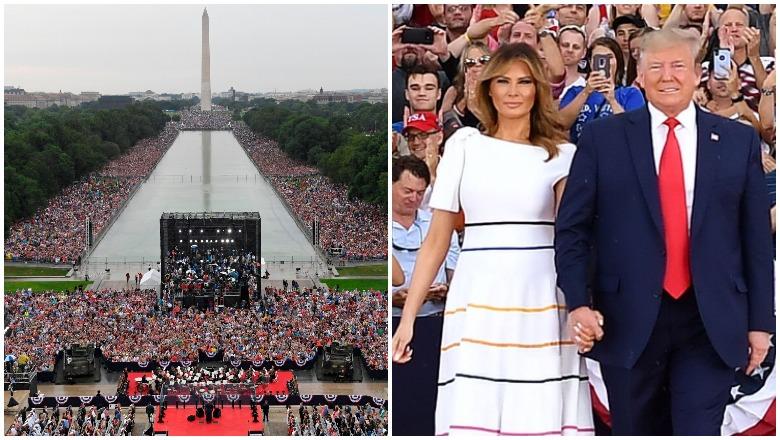 Trump 4th of July Crowd