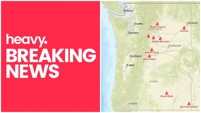 Oregon and Washington Fires Near Me